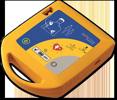 an AED defibrillator machine by Saver One